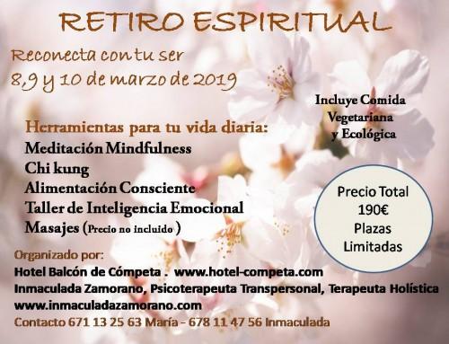 ¿Necesitas parar? Retiro espiritual en Málaga en marzo de 2019
